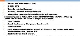 Pengumuman Penerimaan Tenaga Lapangan Pemantauan Status Gizi Sulawesi Barat