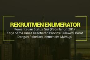 Rekruitmen Enumerator Pemantauan Status Gizi Tahun 2017 Provinsi Sulawesi Barat